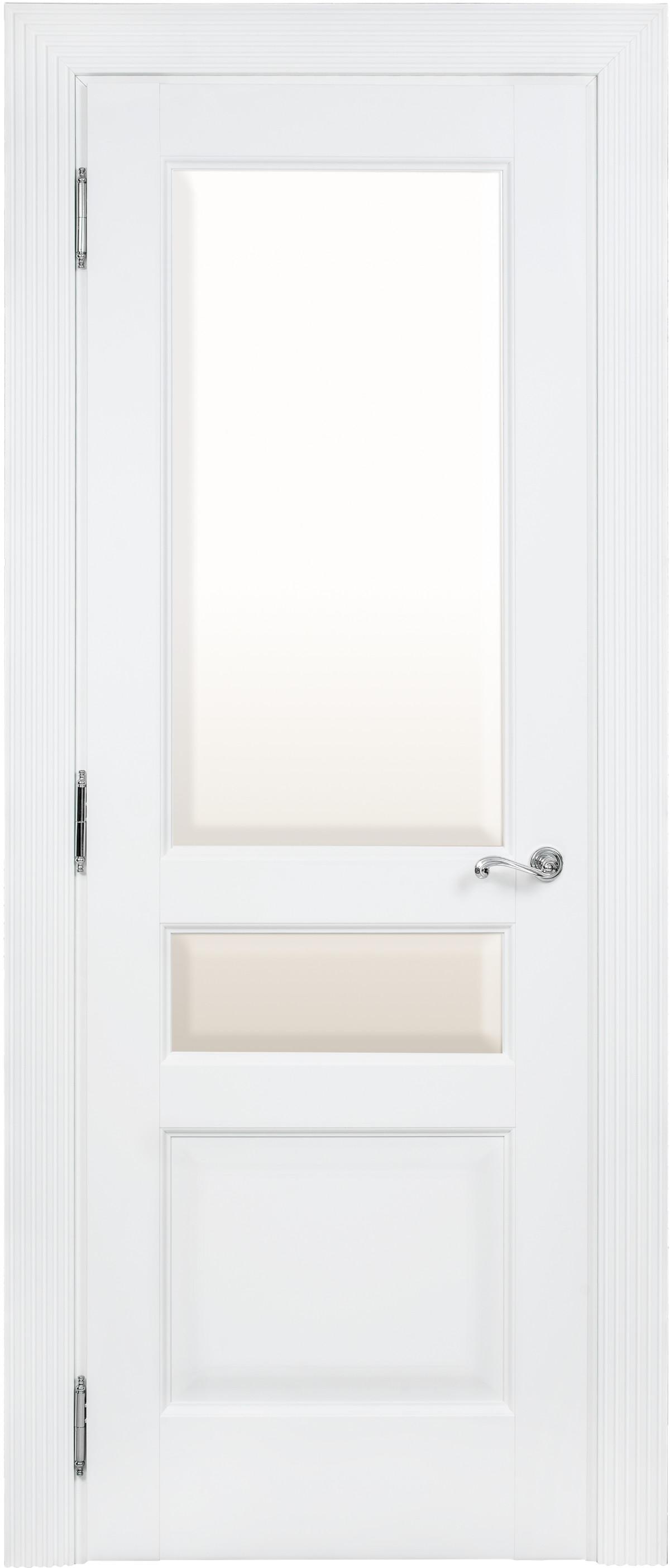 Белая межкомнатная дверь со стеклом Academia 2SFnP-2