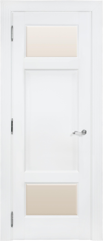 Белая межкомнатная дверь со стеклом Academia 2SFnP-3