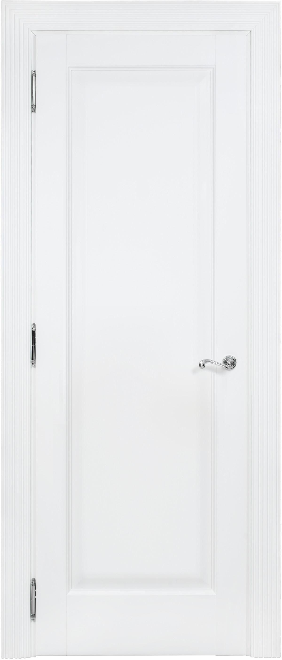 Белые межкомнатные классические двери Academia 1F