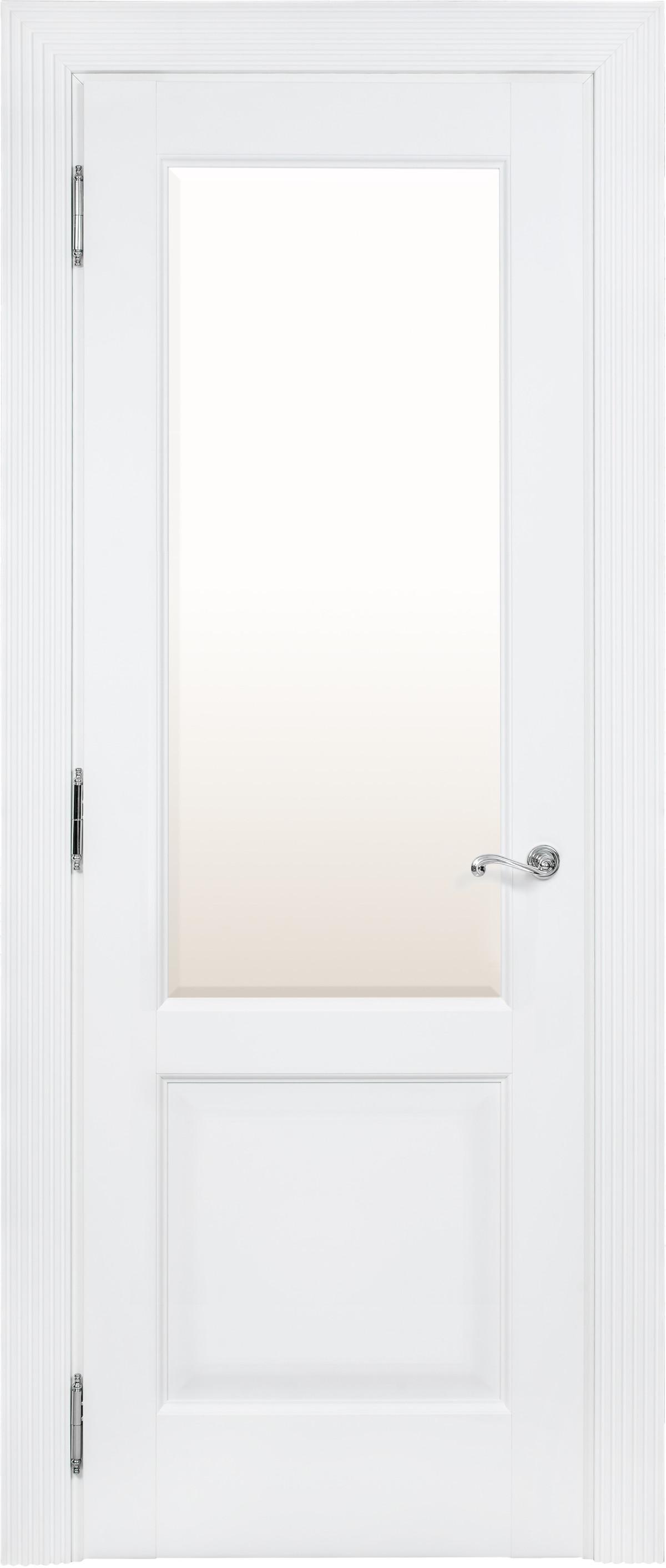 Белая межкомнатная дверь со стеклом Academia SF