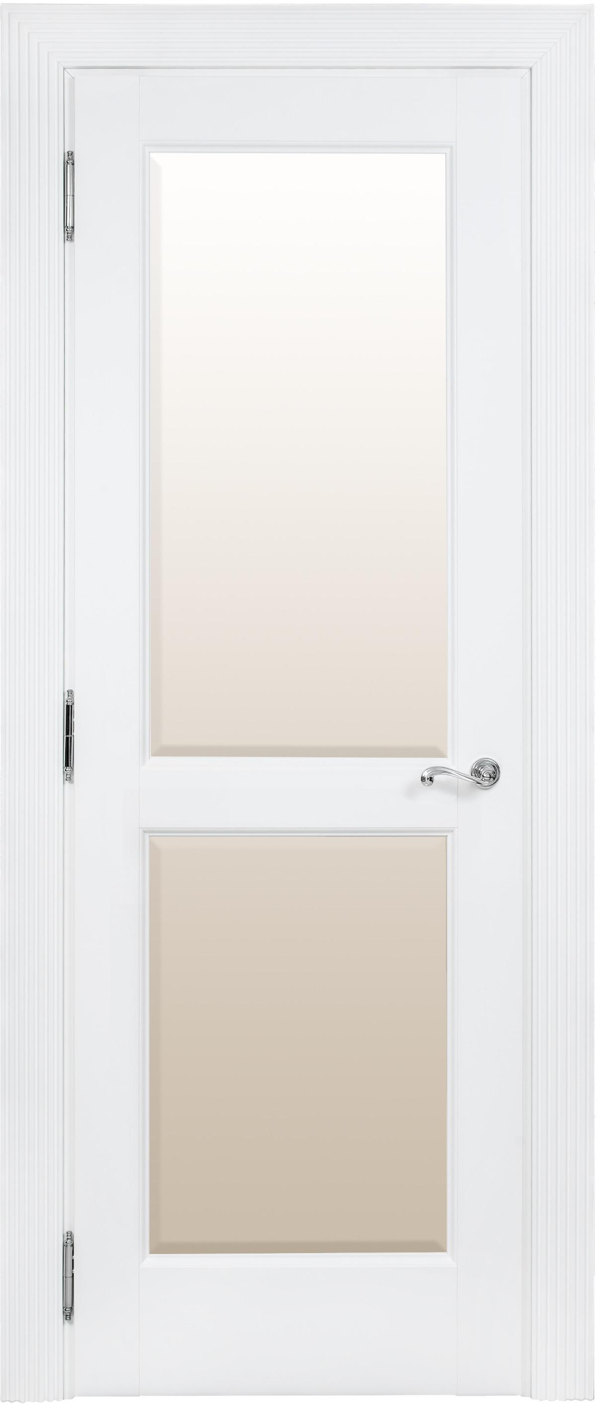 Белые межкомнатные двери со стеклом Academia 2S-2