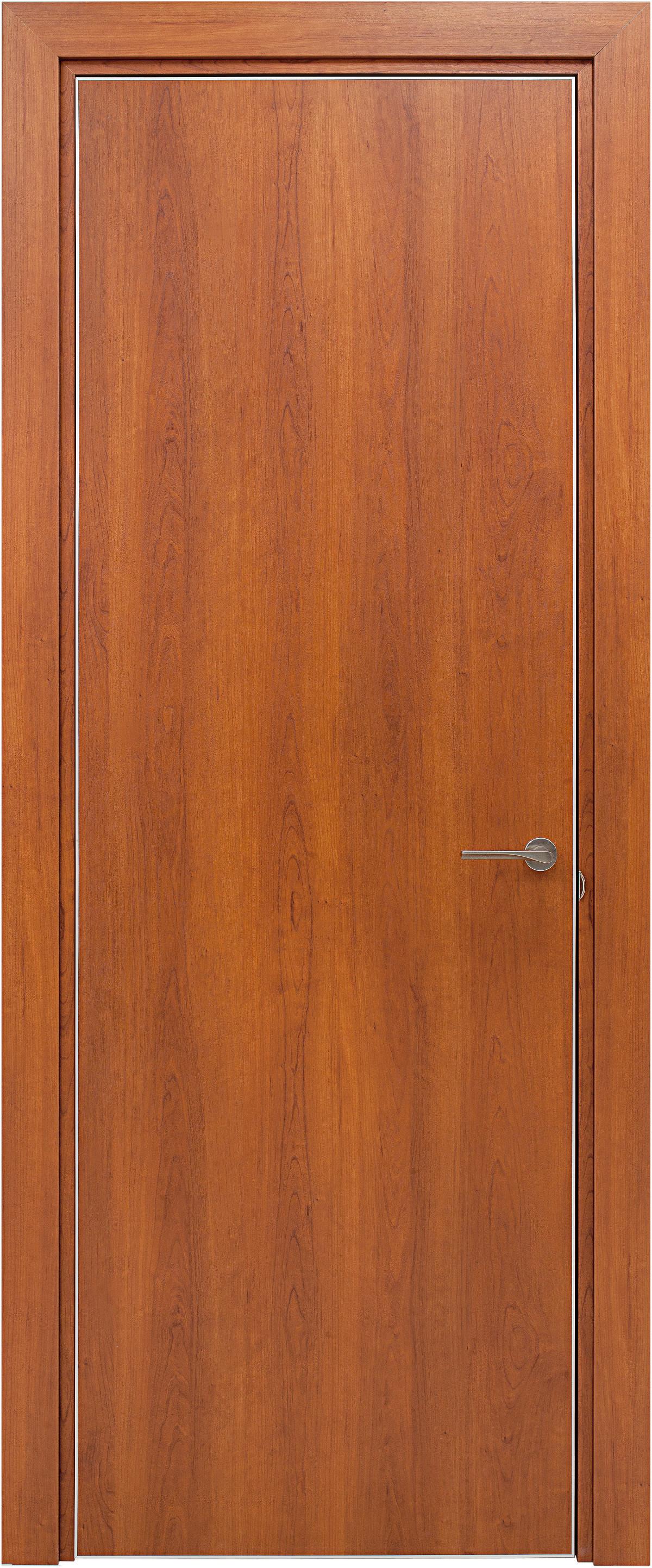 Межкомнатная / входная дверь, отделка: экошпон ЧЕРЕШНЯ, Glossy
