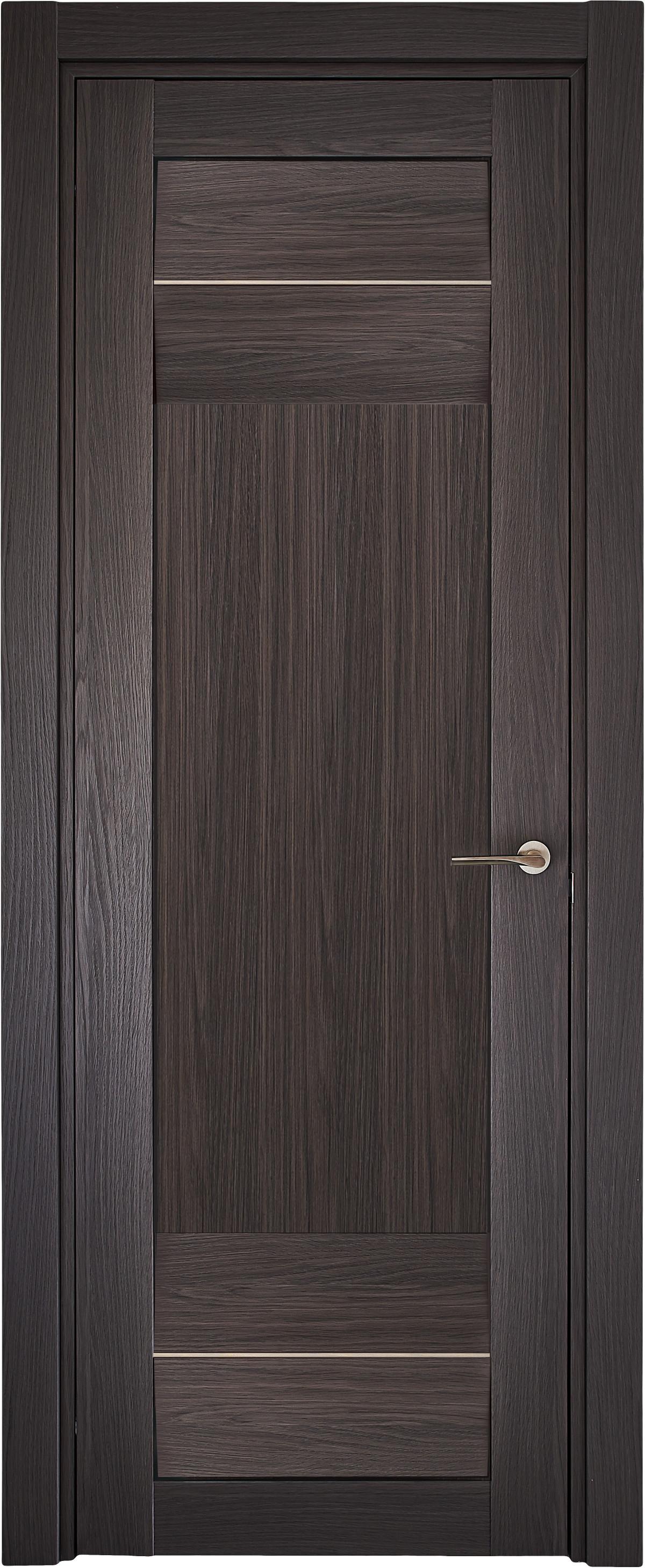 Межкомнатная / входная дверь, отделка: структурированный экошпон ДУБ АНТРАЦИТ, Onda Largo 4K1B Alu