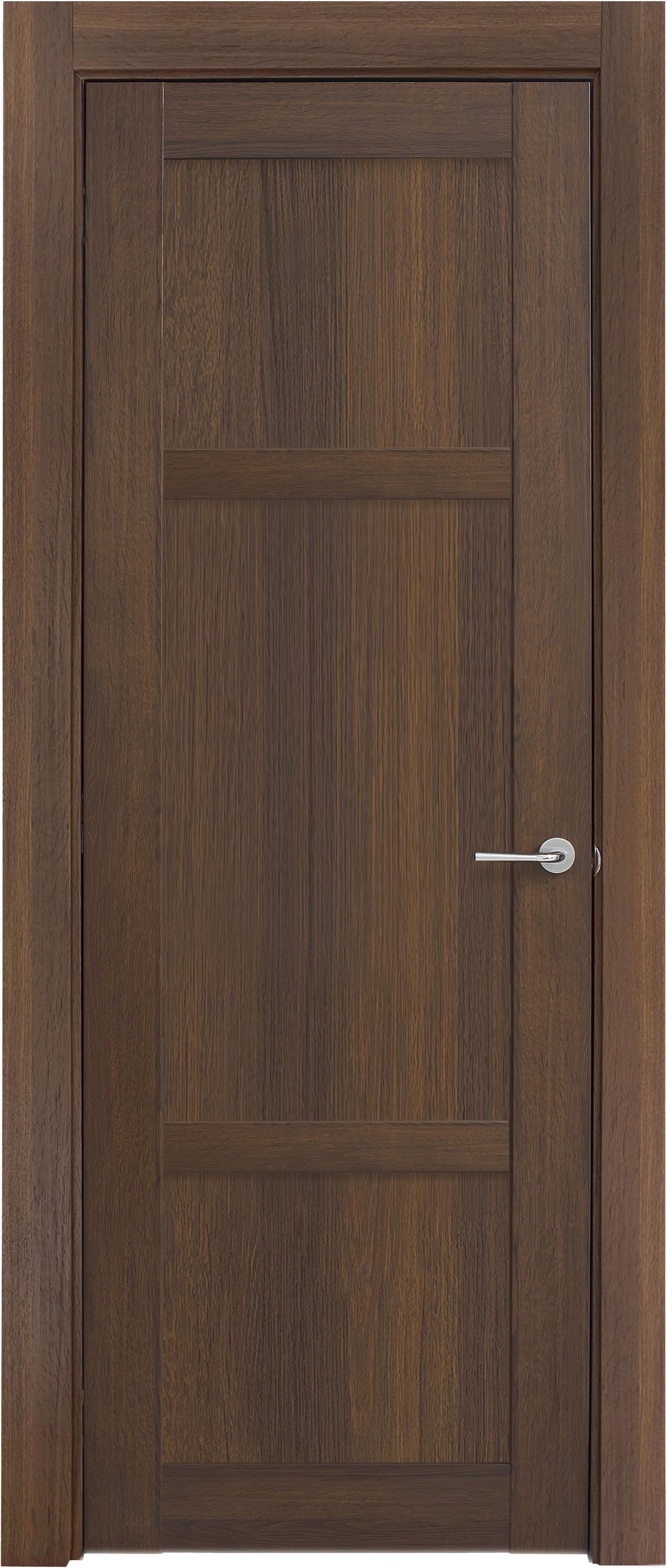 Межкомнатная / входная дверь, отделка: экошпон ГРЕЧЕСКИЙ ОРЕХ, Solo 3BnP-1