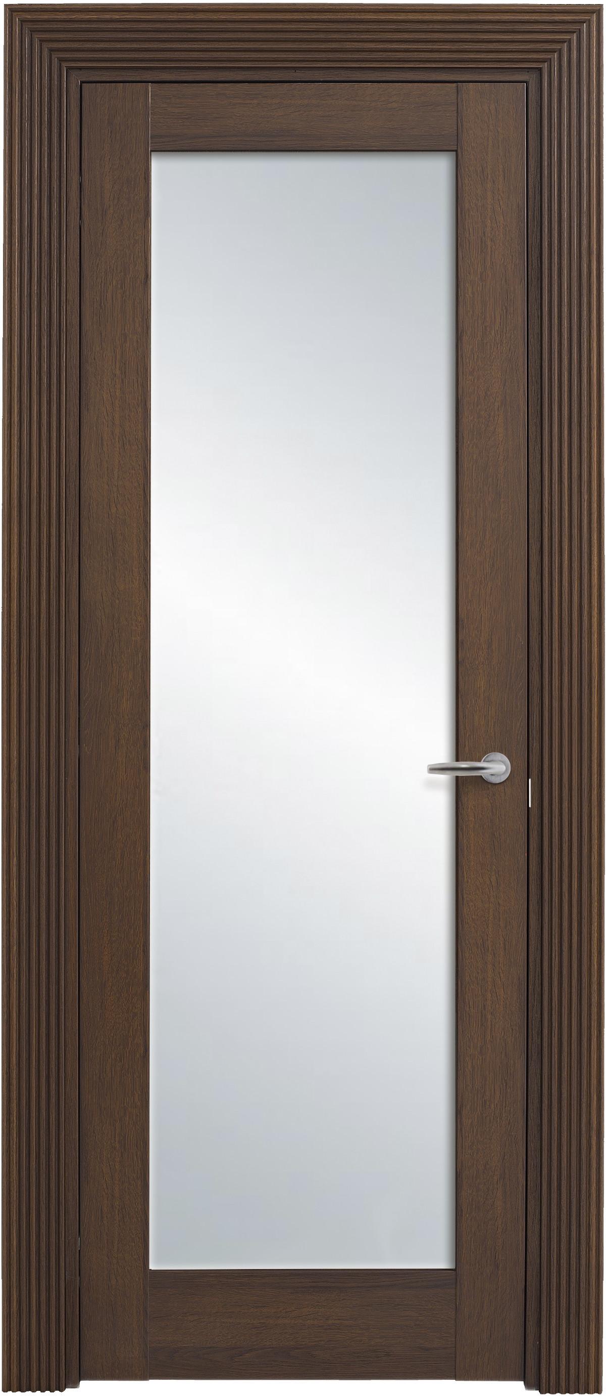 Классические межкомнатные двери со стеклом Solo Classic 1S, греческий орех