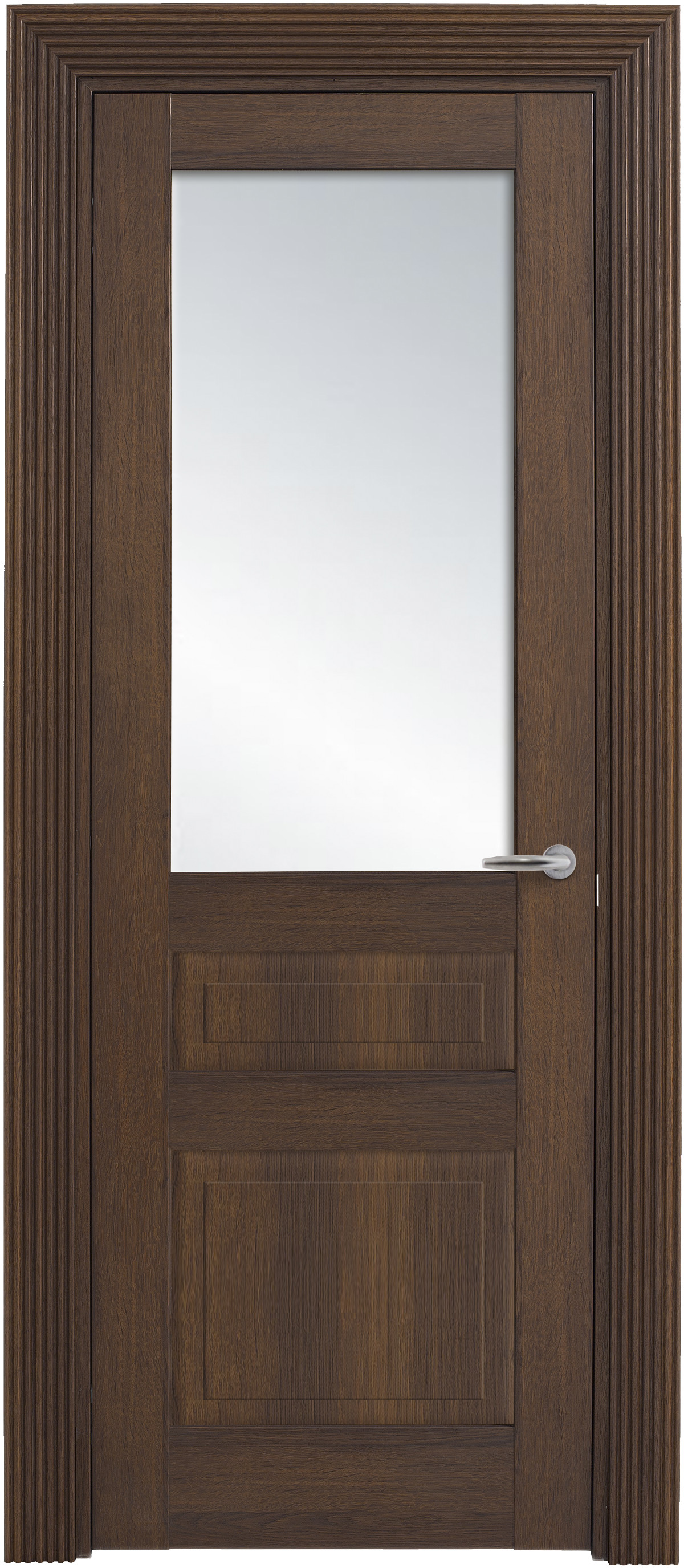 Межкомнатная / входная дверь, отделка: экошпон ГРЕЧЕСКИЙ ОРЕХ, Solo Classic 2FSnP-2