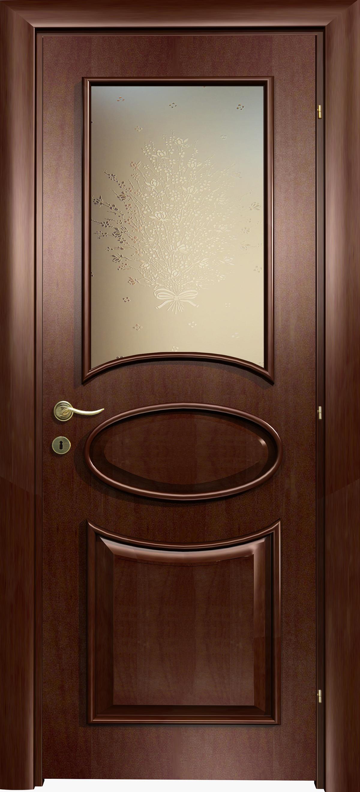 Межкомнатная / входная дверь, отделка: натуральный шпон, Capri Oval V