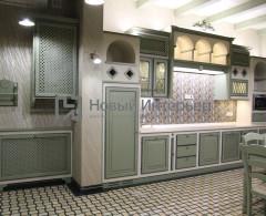 Кухня для барбекю в загородном доме в Подмосковье дизайнер Инна Лелякина